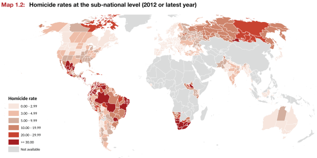 Subnational Global Homicide Rates
